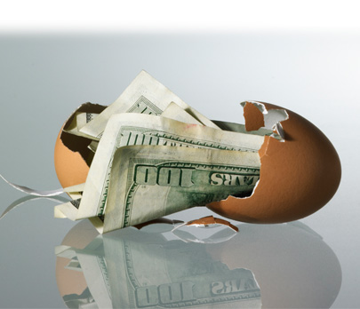 Money in an eggshell
